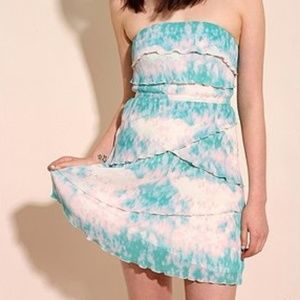 Urban Outfitters Strapless Tie Dye Dress